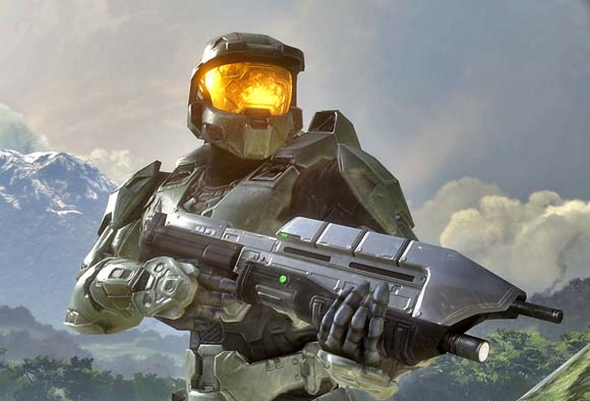 Halo 3 begins with space Marine Master Chief rocketing toward Earth. Image courtesy of Microsoft