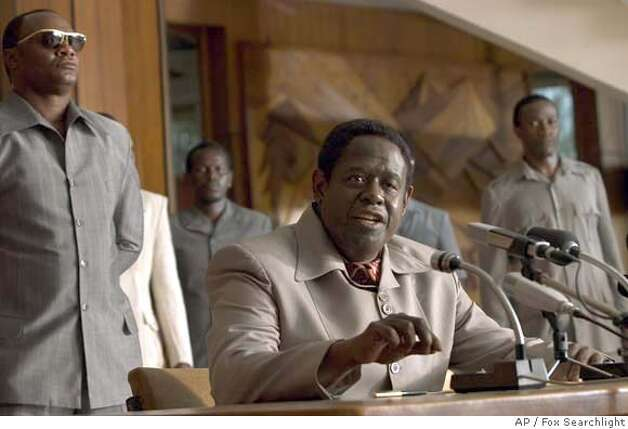 "Forest Whitaker as Ugandan President Idi Amin in ""The Last King of Scotland."" Fox Searchlight photo via Associated Press"