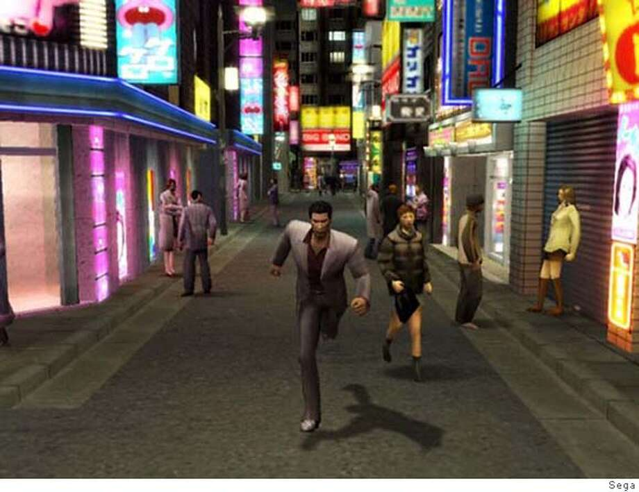 """Sega's """"Yakuza,"""" pictured in this undated promotional image from video, is one of dozens of high-profile games being released for fall 2006. (AP Photo/Sega) Photo: Sega"""