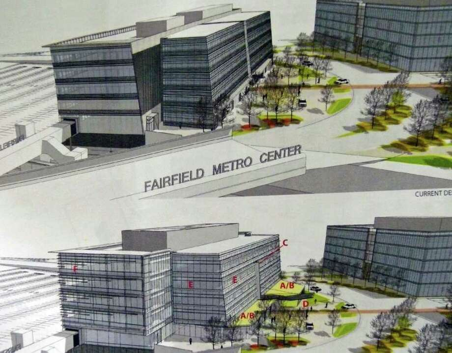 Blackrock Realty is proposing some modifications to the concourse building at the Fairfield Metro Center. At top is the original proposal; below are the proposed changes. The TPZ decided it wanted a presentation from the developer before approving the modifications. Photo: Contributed Photo / Fairfield Citizen