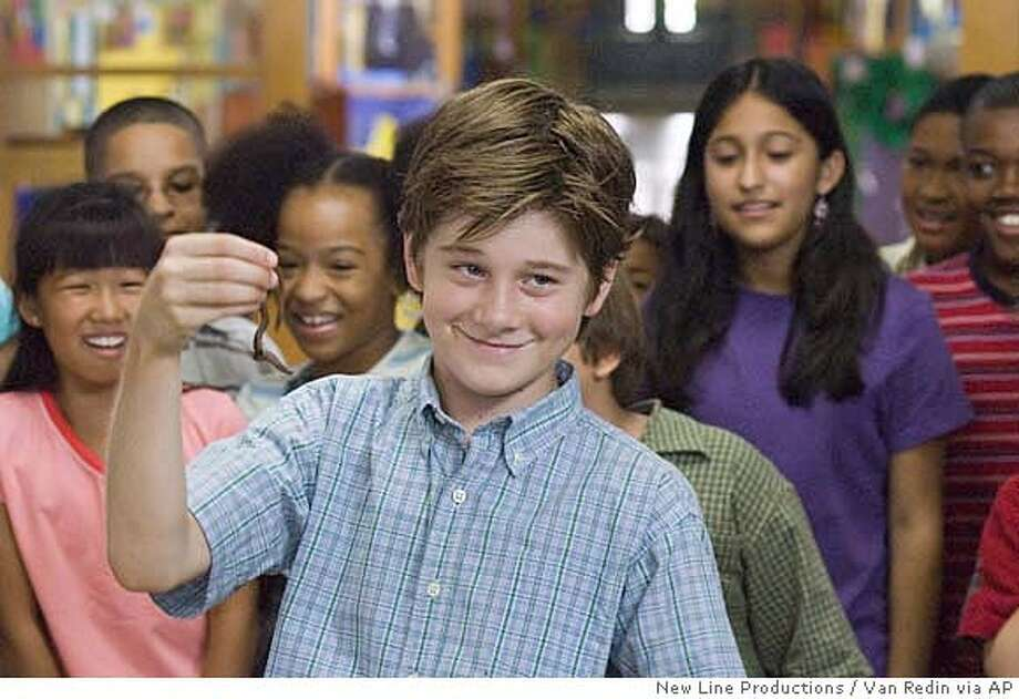 "In this photo provided by New Line Productions, Luke Benward stars as ""Billy"" in New Line Cinema's upcoming family release, ""How To Eat Fried Worms."" (AP Photo/New Line Productions/Van Redin) Photo: VAN REDIN"