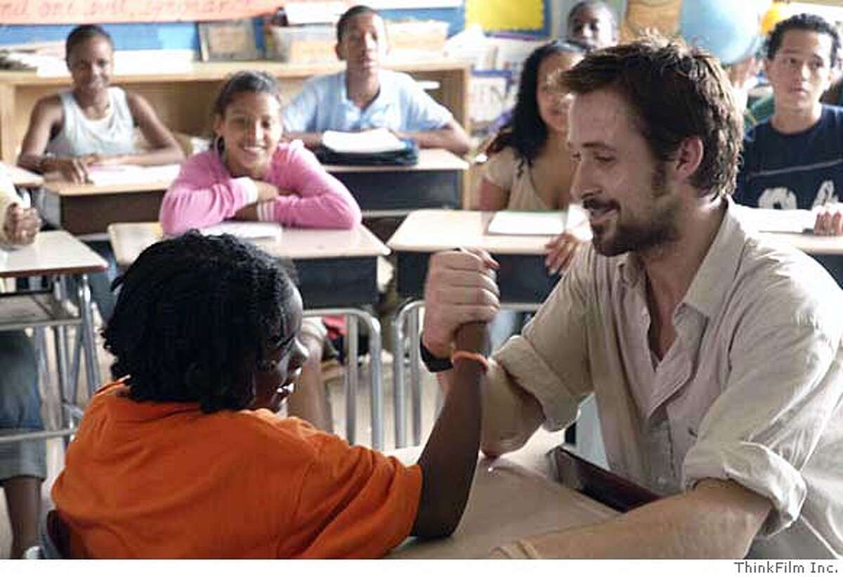 Nathan Corbett and Ryan Gosling in Half Nelson. CR: ThinkFilm Inc.
