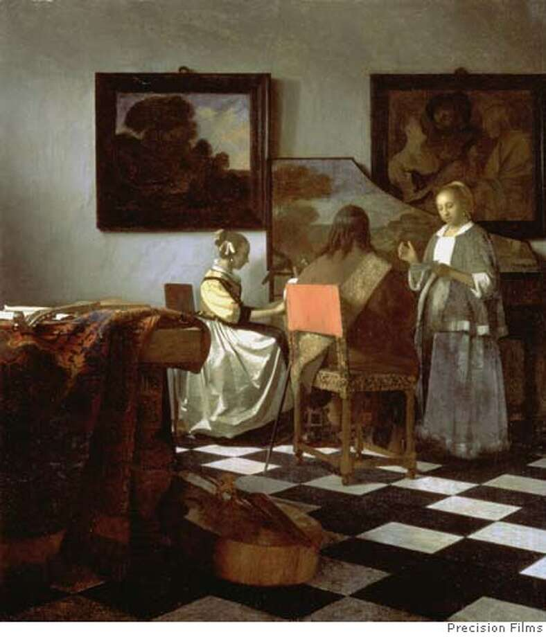 "Painting is Vermeer's ""The Concert,"" one of the stolen paintings. Credit: Precision Films Photo: Precision Films"