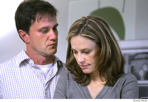 TELL ME YOU LOVE ME: Tim DeKay, Ally Walker. photo: Doug Hyun Ran on: 09-07-2007  &quo;Tell Me You Love Me&quo; stars as the couples, from top: Tim DeKay, Ally Walker, Adam Scott, Sonya Walger, Luke Farrell Kirby, Michelle Borth. Photo: Ho