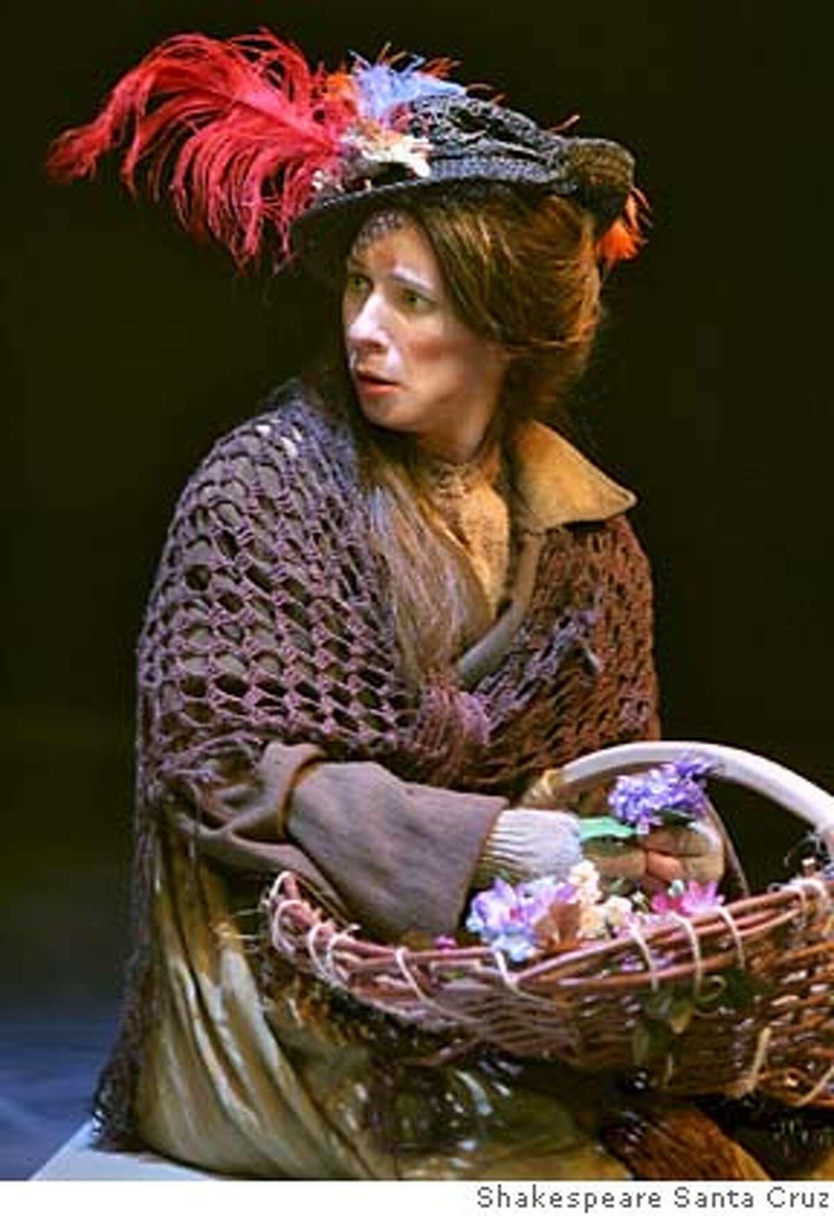 Julia Coffey as Eliza Doolittle in Pygmalion. CR: Shakespeare Santa Cruz
