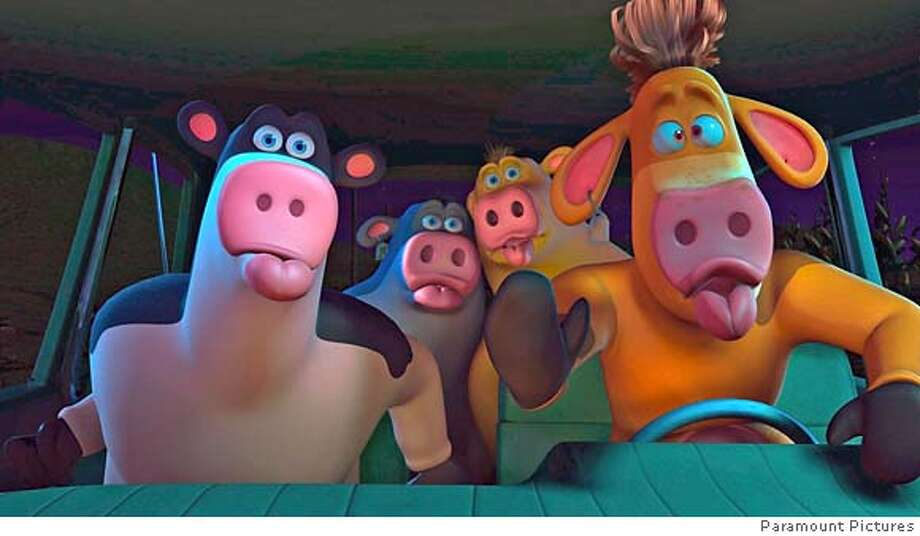 In This Photo Provided By Paramount Pictures All Of The Barnyard Animals Spring Up On