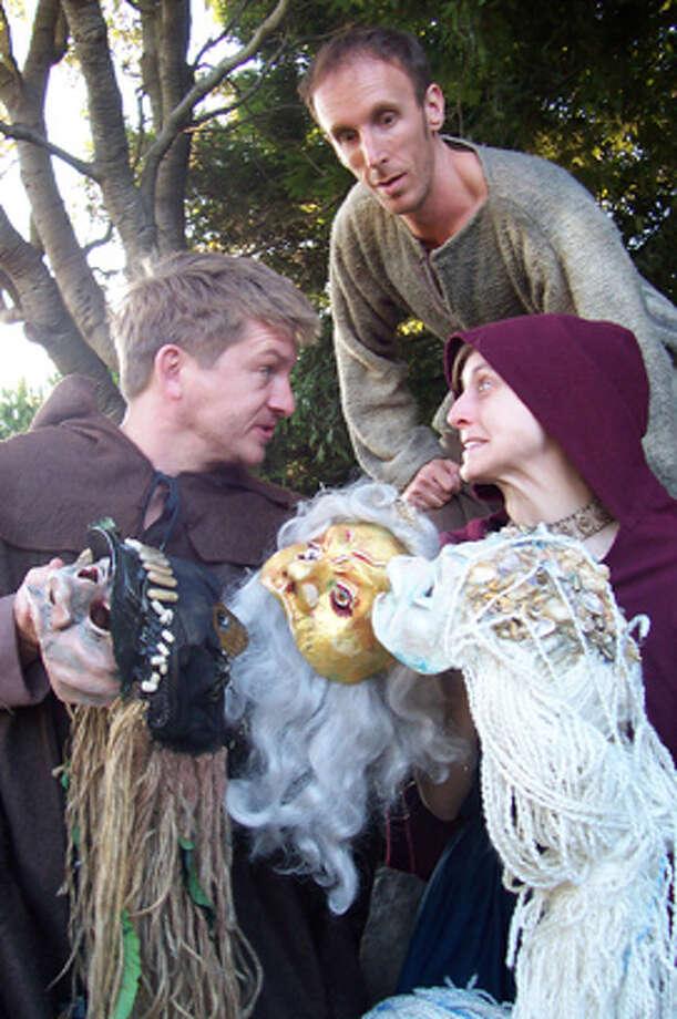 """Ragnarok"" features Ryan O'Donnell as Snorri (left), Darren Blaney as Bjorn and Erin Carter as Helga. Photo courtesy of Shotgun Players"