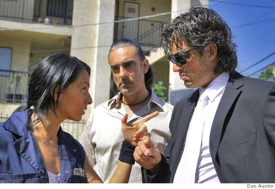 "Ivonne Montero (from left), Miguel Varoni and Fernando Colunga in ""Ladron Que Roba a Ladron,"" a caper set in Los Angeles. Lionsgate phot by Dan Austin"