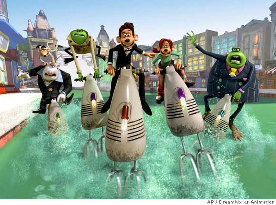 "This animated image provided by DreamWorks Animation shows a scene from ""Flushed Away."" (AP Photo/DreamWorks Animation) UNDATED HANDOUT PROVIDED BY DREAMWORKS ANIMATION. Photo: Dreamworks Animation"