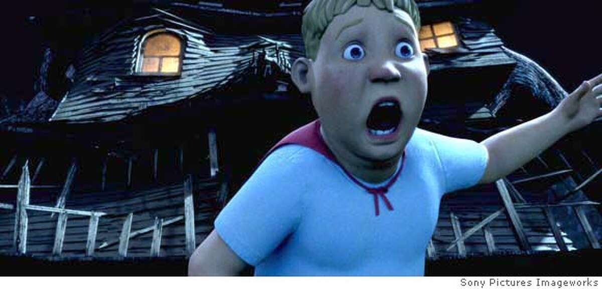 In Columbia Pictures� comedy thrill-ride Monster House, Chowder (Sam Lerner) crosses over to the other side of the street to unlock a mystery and experiences the greatest adventure of his life. CR: Sony Pictures Imageworks