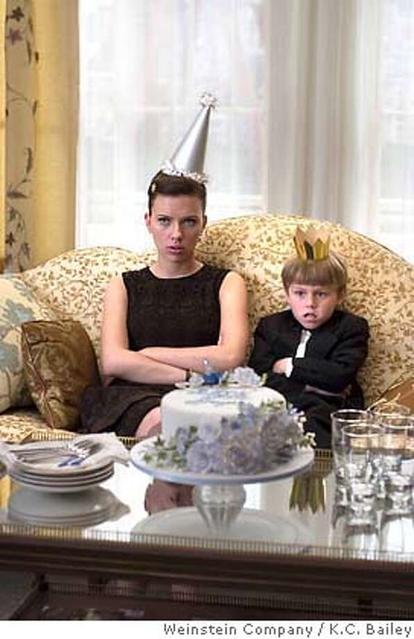 Scarlett Johansson (Annie Braddock) and Nicholas Reese Art (Grayer) star in Shari Springer Berman and Robert Pulcini's The Nanny Diaries. Photo: K.C. Bailey