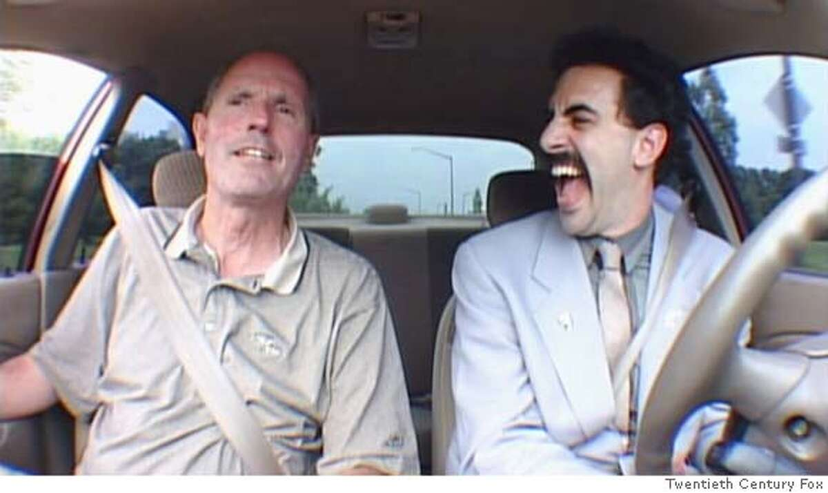 B-30 Borat gets driving lesson so he can start his American quest. (Multiple values)