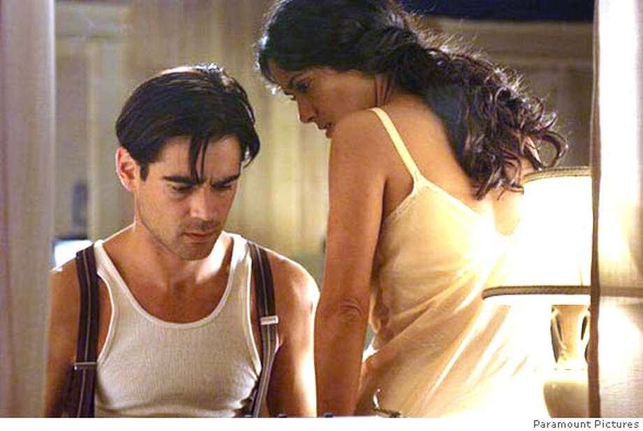 "Colin Farrell and Salma Hayek in ""Ask the Dust""Ran on: 03-12-2006  Robert Towne, writer-director of &quo;Ask the Dust,&quo; in his hotel room at the Four Seasons. Photo: Paramount Pictures"