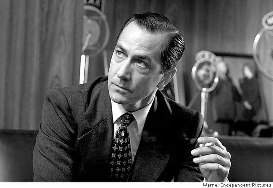 """Publicity picture of actor Strathairn in a scene from """"Good Night, and Good Luck"""" Photo: HO"""