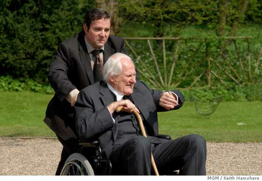 "This photo provided by MGM shows (left to right) Andy Nyman and Peter Vaughan in ""Death at a Funeral."" (AP Photo/MGM/Keith Hamshere)"