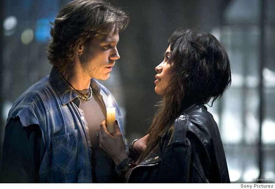 """Adam Pascal and Rosario Dawson in """"Rent"""" 2005 Ran on: 11-20-2005 Photo: Sony Pictures Entertainment"""