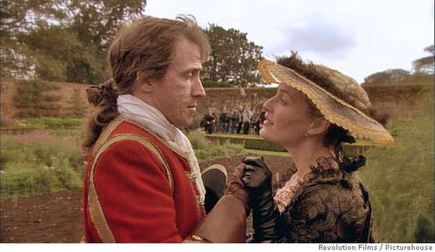Rob Brydon & Gillian Anderson in Tristram Shandy: A Cock & Bull Story. Photo credit: Revolution Films/Picturehouse. Photo: X