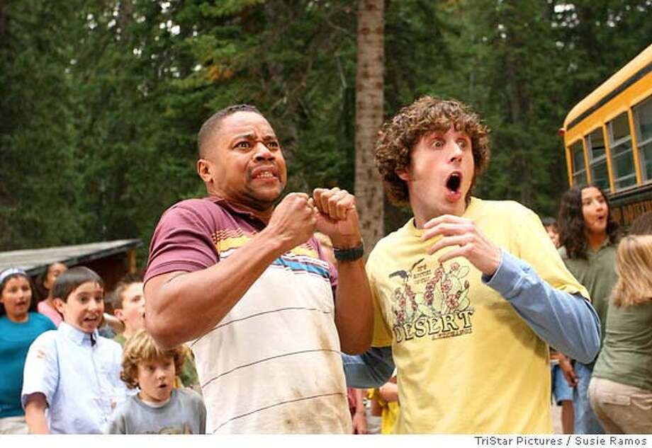 Cuba Gooding Jr. (left) and Josh McLerran star in DADDY DAY CAMP, a TriStar Pictures release.  TriStar Pictures / Susie Ramos  **ALL IMAGES ARE PROPERTY OF SONY PICTURES ENTERTAINMENT INC. FOR PROMOTIONAL USE ONLY. SALE, DUPLICATION OR TRANSFER OF THIS MATERIAL IS STRICTLY PROHIBITED. Photo: Susie Ramos