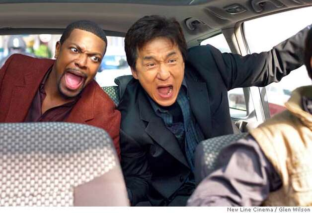 Description: Chris Tucker (left) stars as �Carter� and Jackie Chan (right) stars as �Lee� in New Line Cinema�s action comedy RUSH HOUR 3. Photo Credit: �2007 Glen Wilson/New Line Cinema