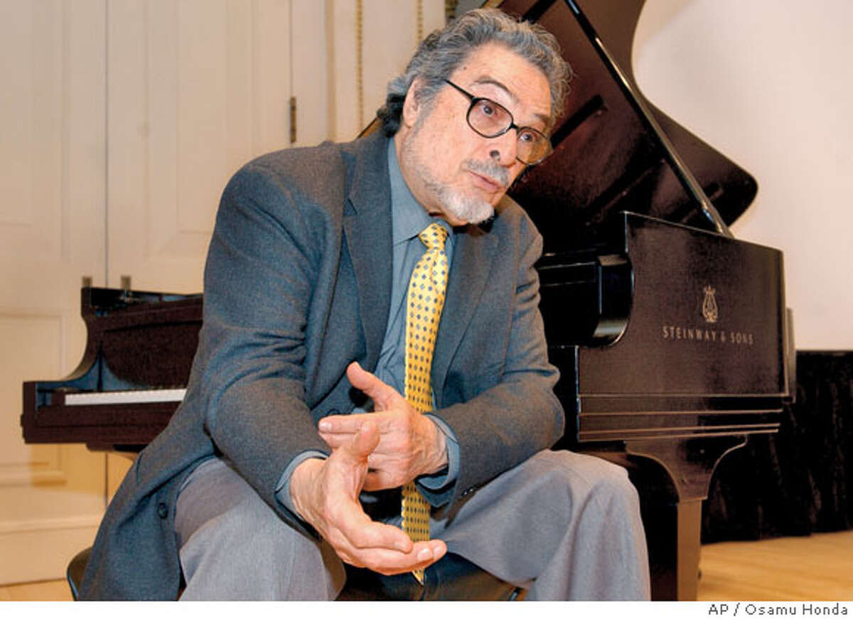 � Leon Fleisher sits at a piano during a news conference Wednesday, March 31, 2004, at Carnegie Hall in New York. Fleisher, 75, who for years was able to perform using only his left hand because of a mysterious disease called dystonia, a neurological disorder of the brain which disrupts motor control of muscles, has been treated effectively with botox. (AP Photo/Osamu Honda) Ran on: 10-05-2005 Pianist Leon Fleisher, a San Francisco native, will perform Paul Hindemiths formerly lost work for its U.S. premiere.