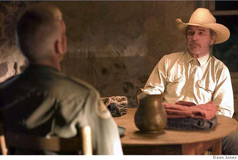 Tommy Lee Jones as Pete Perkins in The Three Burials of Melquiades Estrada.  CR: Dawn Jones Photo: Dawn Jones