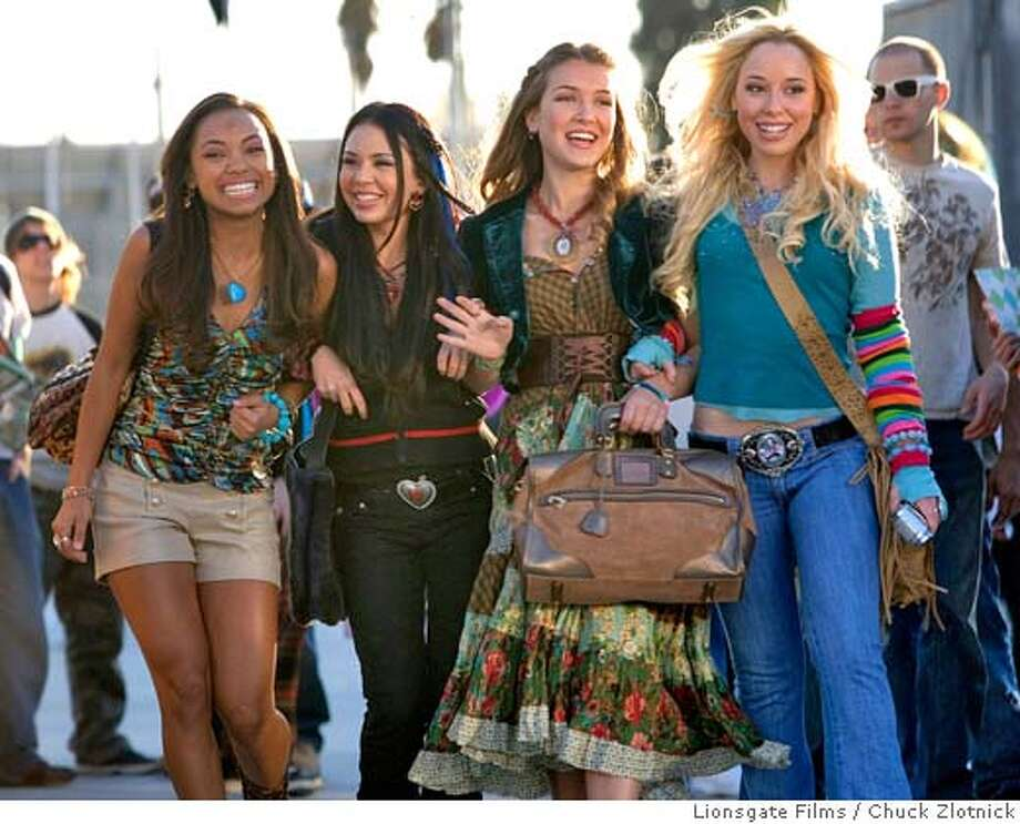 "Actresses Logan Browning (L), Janel Parrish, Nathalia Ramos and Skyler Shaye are seen in this publicity photo released to Reuters July 31, 2007 in a scene from the film in ""Bratz."" The film is based on the popular Bratz dolls, created in 2001 as a hip urban alternative to Barbie, which have taken the global toy market by storm, forming a global franchise worth about $2 billion for makers MGA Entertainment. REUTERS/Chuck Zlotnick/Lionsgate Films/Handout (UNITED STATES). EDITORIAL USE ONLY. NOT FOR SALE FOR MARKETING OR ADVERTISING CAMPAIGNS. NO ARCHIVES. NO SALES. EUO NARCH NOSALES Photo: HO"