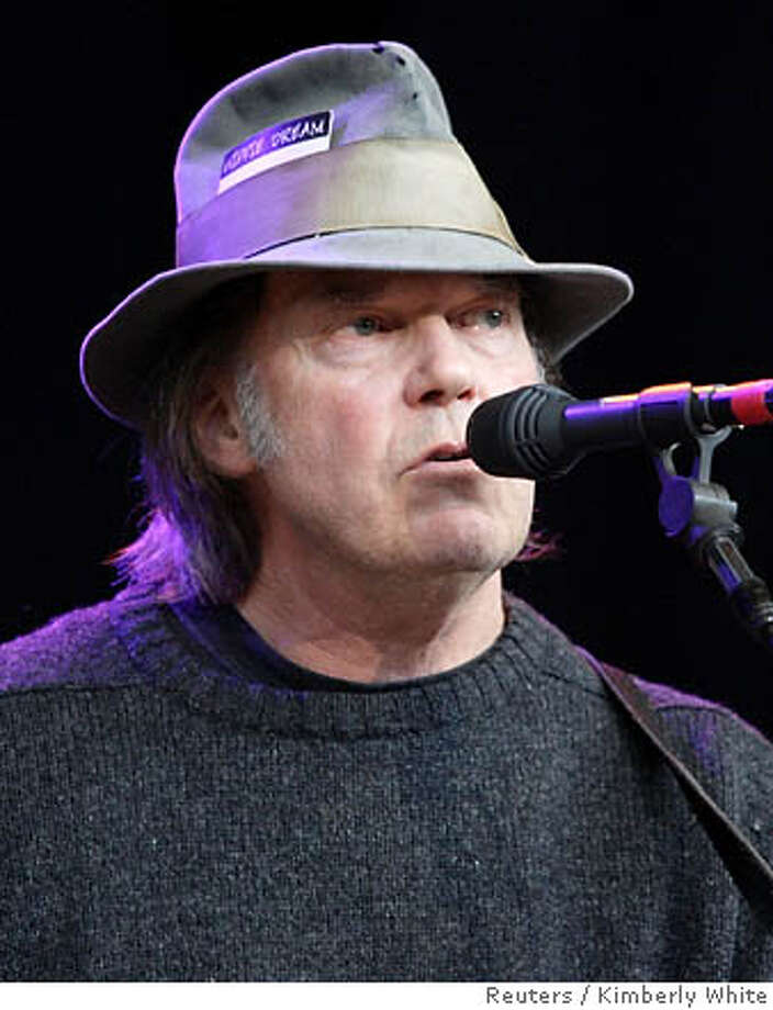 File photo of Neil Young performing at Bridge School Benefit Concert in Mountain View Photo: KIMBERLY WHITE