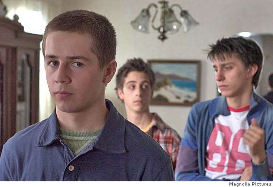 Dylan (Michael Angarano), Ricky (Matthew Bush) and Slap (Gideon Glick) in One Last Thing, a Magnolia pictures release.� Magnolia Pictures. Photo: Magnolia Pictures