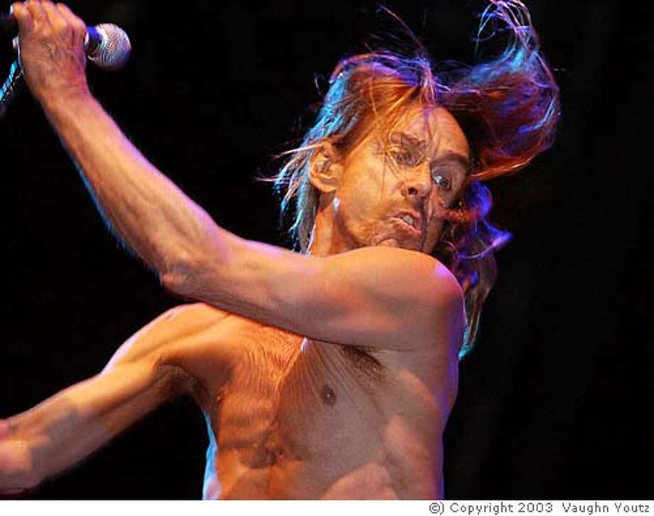 April 27, 2003; Indio, CA, USA; IGGY POP performs during the 2003 Coachella Valley Music and Arts Festival. Mandatory Credit: Photo by Vaughn Youtz (�) Copyright 2003 by Vaughn Youtz. Photo: Vaughn Youtz