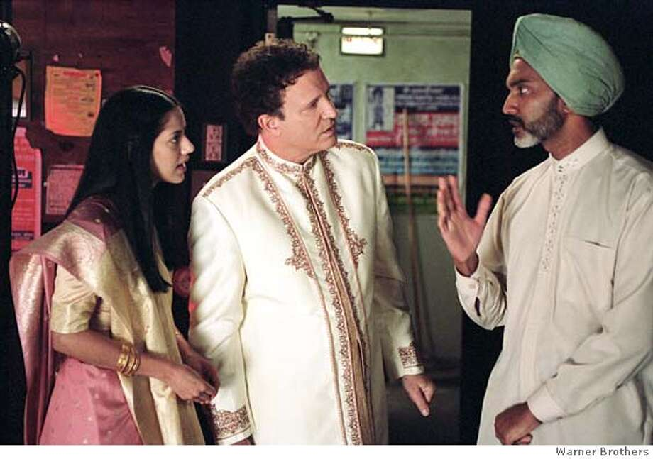 "Sheetal Sheth as Maya, Albert Brooks as himself and Duncan Bravo at the stage manager in in ""Looking for Comedy in the Muslim World"" PHOTOGRAPHS TO BE USED SOLELY FOR ADVERTISING, PROMOTION, PUBLICITY OR REVIEWS OF THIS SPECIFIC MOTION PICTURE AND TO REMAIN THE PROPERTY OF THE STUDIO. NOT FOR SALE OR REDISTRIBUTION. Photo: Warner Bros."