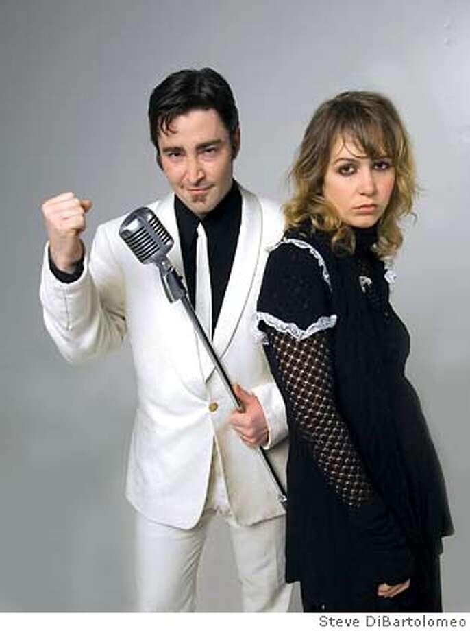 Ben Flax as Creon and Anne Francisco Worden as Antigone. Photo by Steve DiBartolomeo Photo: Steve DiBartolomeo
