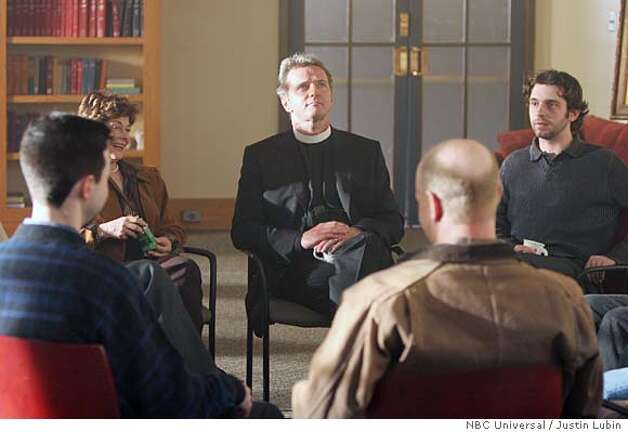 "BOOK OF DANIEL -- NBC Series -- ""Pilot"" -- Pictured: Aidan Quinn as Daniel (center) -- NBC Universal Photo: Justin Lubin Photo: Justin Lubin"