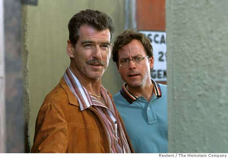 "Actors Pierce Brosnan (L) and Greg Kinnear are shown in a scene from ""The Matador"" in a undated publicity photo released on December 21, 2005. Kinnear stars in new movie ""The Matador"" alongside Pierce Brosnan. It is a low-budget buddy comedy in which Brosnan plays a burned-out assassin whom Kinnear, portraying a businessman, befriends during a lonely week in Mexico City. ""The Matador"" is winning good reviews and Brosnan earned a Golden Globe nomination for acting. Kinnear, 42, is being talked about for the supporting actor Oscar. It is not the first time the TV talk show host-turned-actor has wowed audiences. To match feature Leisure Kinnear. NO ARCHIVE REUTERS/The Weinstein Company/Handout Ran on: 01-02-2006  Actors Pierce Brosnan (left) and Greg Kinnear star in Richard Shepard's comedic thriller &quo;The Matador.&quo; Photo: /The Weinstein Company"