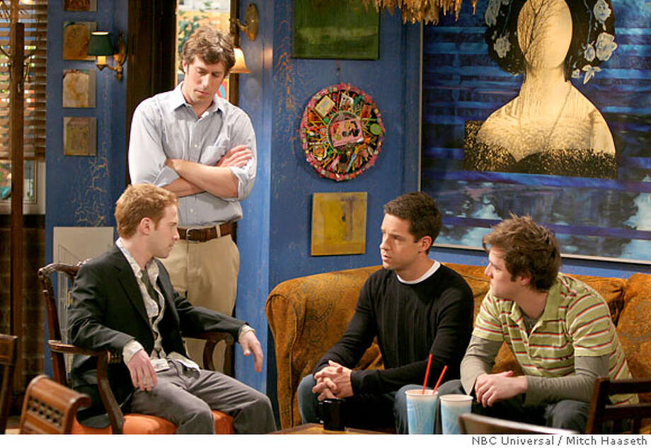 GOODMAN04 FOUR KINGS -- NBC Series -- Pictured: (l-r) Seth Green as Barry, Josh Cooke as Ben, Todd Grinnell as Jason, Shane McRae as Bobby -- NBC Universal Photo: Mitch Haaseth Photo: Mitch Haaseth