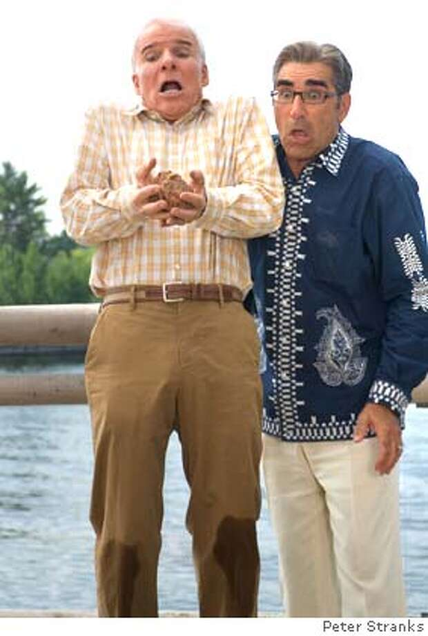 CBTD2-7724 Arch-nemeses Tom Baker (Steve Martin) and Jimmy Murtaugh (Eugene Levy) are astonished by the goings-on near their vacation homes. Photo Credit: Peter Stranks TM and � 2005 Twentieth Century Fox. All Rights Reserved. Not for sale or duplication. Photo: X