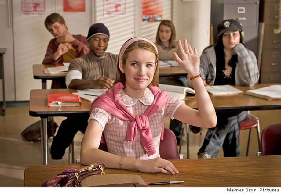 EMMA ROBERTS as Nancy Drew in Warner Bros. Pictures� and Virtual Studios� family mystery adventure �Nancy Drew,� distributed by Warner Bros. Pictures.  PHOTOGRAPHS TO BE USED SOLELY FOR ADVERTISING, PROMOTION, PUBLICITY OR REVIEWS OF THIS SPECIFIC MOTION PICTURE AND TO REMAIN THE PROPERTY OF THE STUDIO. NOT FOR SALE OR REDISTRIBUTION. Photo: Melinda Sue Gordon