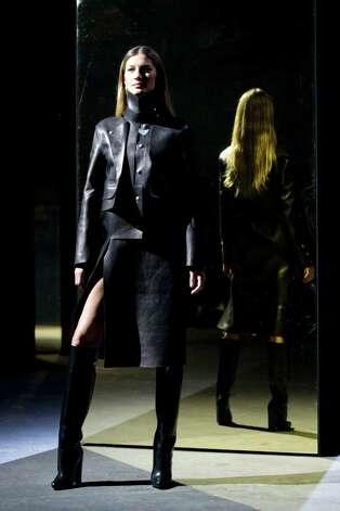 Model Gisele Bundchen walks the runway in the Alexander Wang show during Fashion Week in New York, Saturday, Feb. 11, 2012. (AP Photo/Charles Sykes) Photo: Charles Sykes, FRE / SYKEC