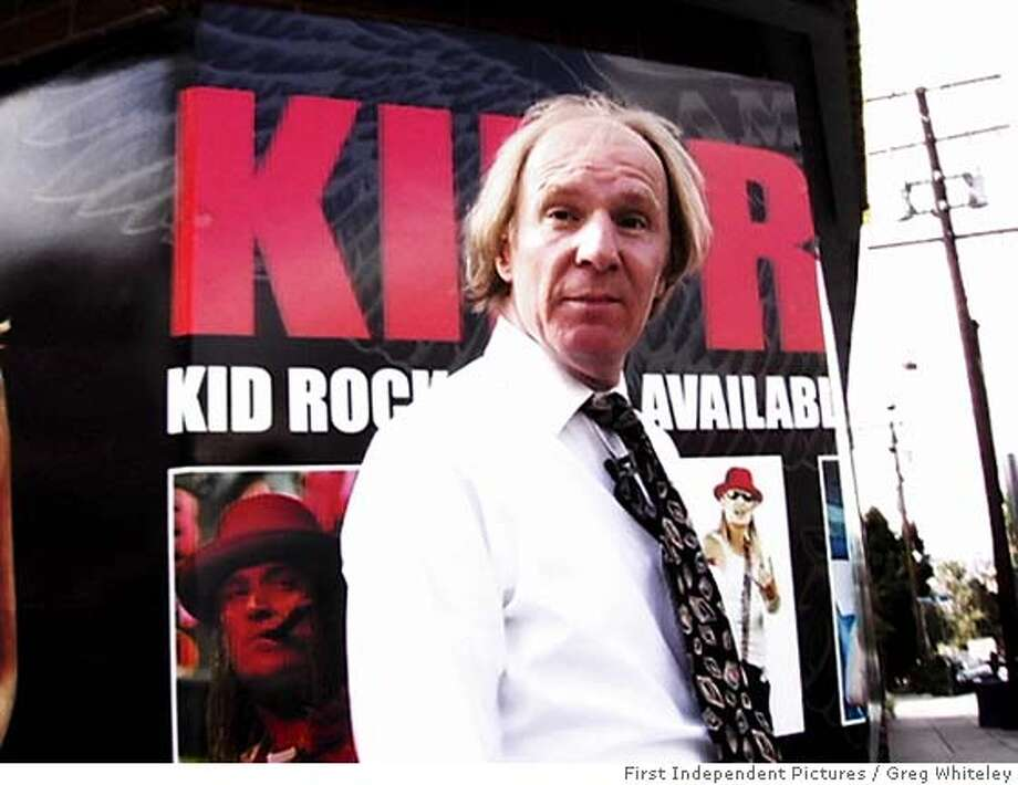 "DOLL25 Arthur ""Killer"" Kane in front of Kid Rock Poster in Los Angeles in New York Doll. Photo By: Greg Whiteley FIRST INDEPENDENT PICTURES Photo: Greg Whiteley"