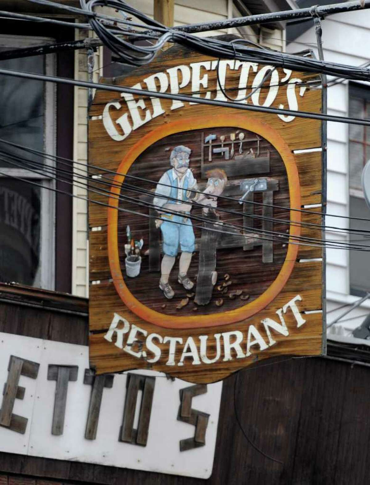 Geppetto's Restaurant on Nott Street in Schenectady, N.Y., on Feb. 15, 2012. Three bartenders were arrested last week for allegedly serving alcohol to minors. (Skip Dickstein / Times Union)