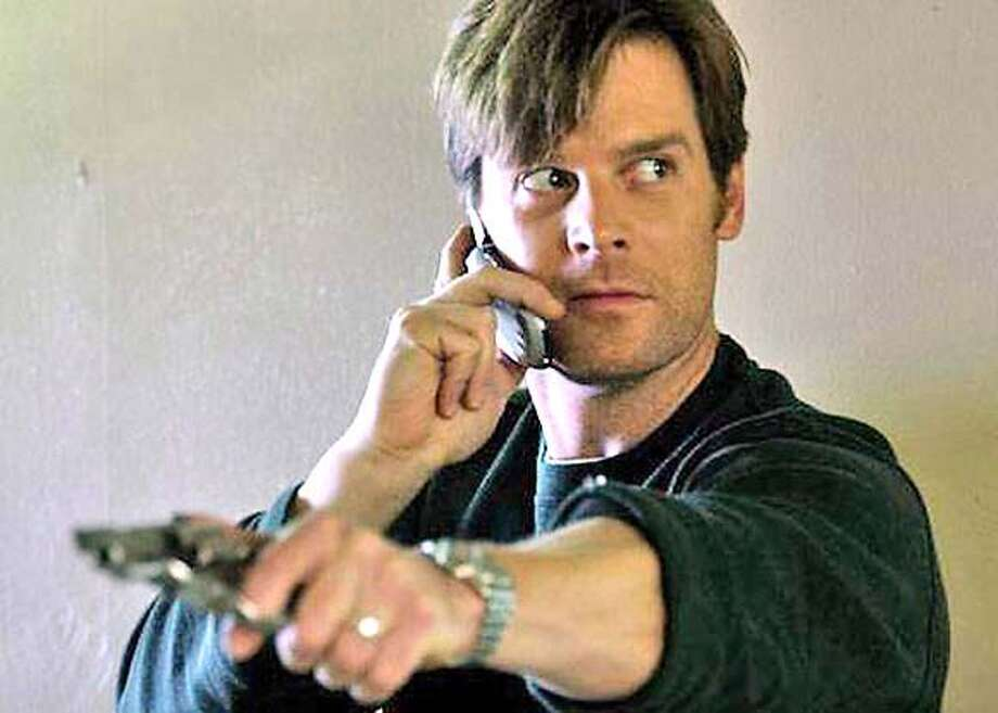 "� Peter Krause in ""Civic Duty"" Angry and depressed over losing his job, accountant Terry Allen (Krause) begins to suspect his new neighbor, a single Islamic grad student with a penchant for unexplained late night activities, is at the center of a terrorist conspiracy. Photo: Ho"