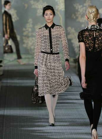 NEW YORK, NY - FEBRUARY 14:  A model walks the runway at the Tory Burch Fall 2012 fashion show during Mercedes-Benz Fashion Week at Alice Tully Hall at Lincoln Center on February 14, 2012 in New York City.  (Photo by Mike Coppola/Getty Images for Mercedes-Benz Fashion Week) Photo: Mike Coppola, Staff / 2012 Getty Images