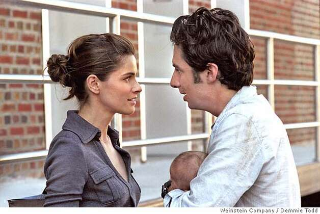 "� This photo provided by The Weinstein Company shows Amanda Peet and Zach Braff in ""The Ex."" (AP Photo/The Weinstein Company/Demmie Todd) NO SALES. NO MAGS. Photo: Demmie Todd"
