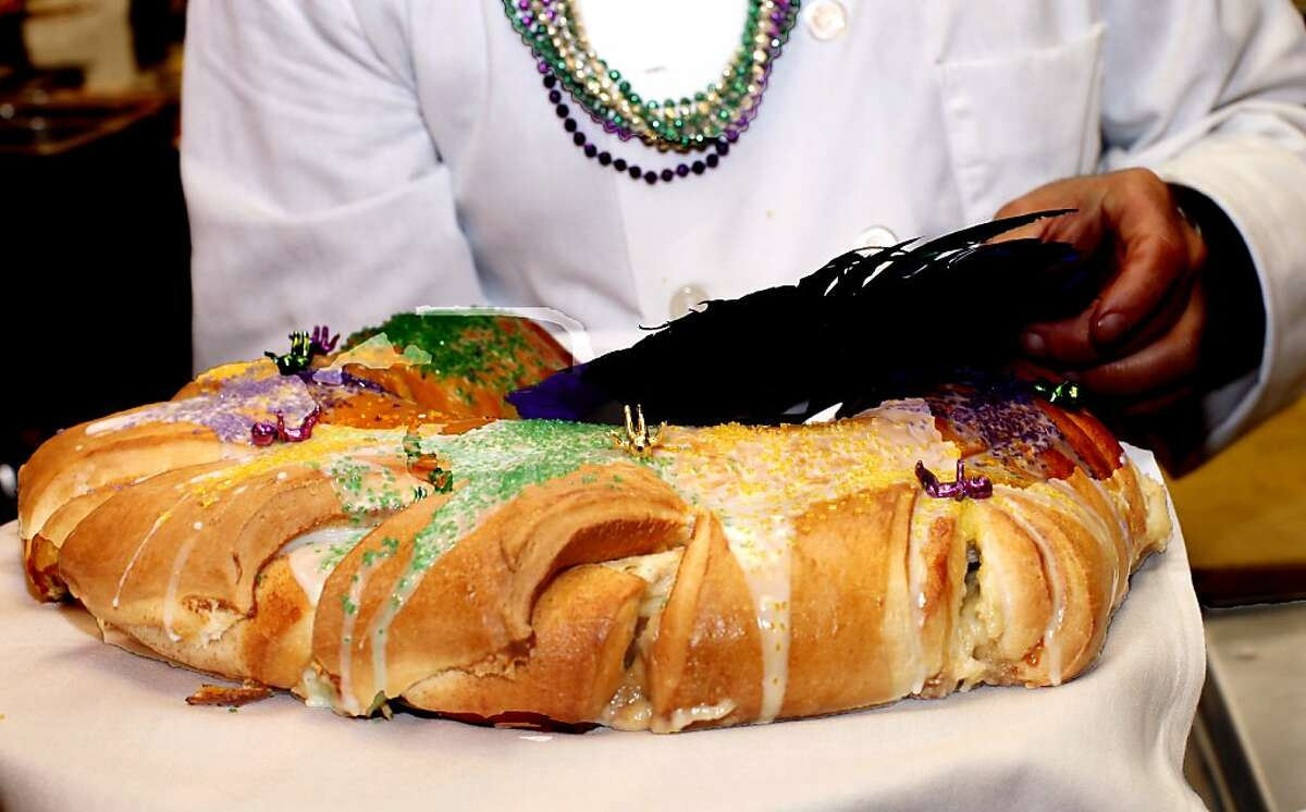 View the following slides to see what's going on in San Francisco this Mardi Gras. Pictured: Traditional Mardi Gras cake served at Town Hall restaurant in San Francisco. February 7, 2012