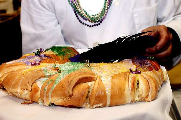 Traditional Mardi Gras cake served at  Town Hall restaurant in San Francisco. February 7, 2012