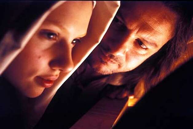 "GIRL26  Scarlett Johansson and Colin Firth in ""Girl with a Pearl Earring."""