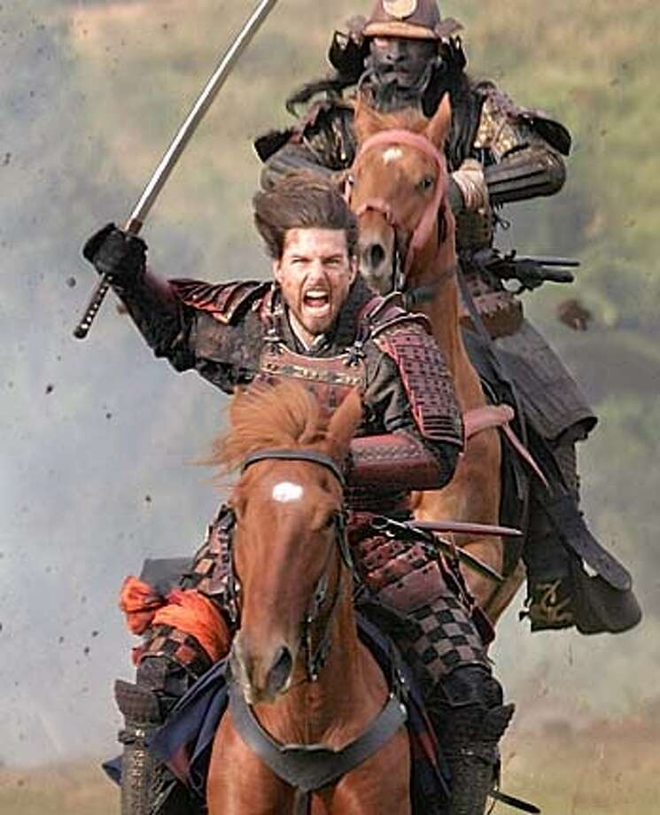 "SAMURAI05.jpg  TOM CRUISE stars in Warner Bros. Pictures� epic action drama ""The Last Samurai."" Tom Cruise leads the charge in Edward Zwick's &quo;The Last Samurai.&quo; As silly as Matthew Broderick in Zwick's &quo;Glory&quo;? Tom Cruise rides with Japanese warriors in Ken Watanabe's &quo;The Last Samurai.&quo;"