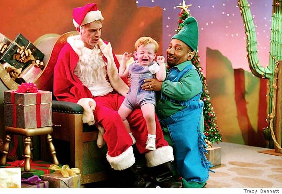 PREVIEW14-471 For PREVIEW14, Datebook, Stein fall movie preview 9/14/03 ; (l-r) Billy Bob Thornton and Tony Cox in Terry Zwigoff�s BAD SANTA. Photo Credit : Tracy Bennett ; on 7/11/02 in . Tracy Bennett / HO Photo: Tracy Bennett