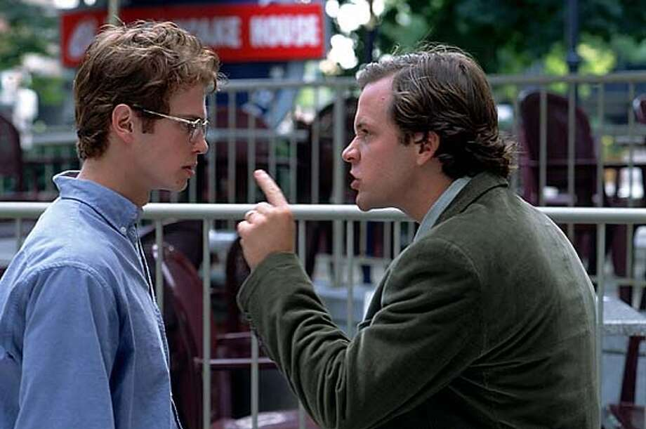"Hayden Christensen & Peter Sarsgaard in ""Shattered Glass,"" a true story of fraudulent Washington, D.C. journalist. (AP Photo/ Jonathan Wenk) Photo: JONATHAN WENK"
