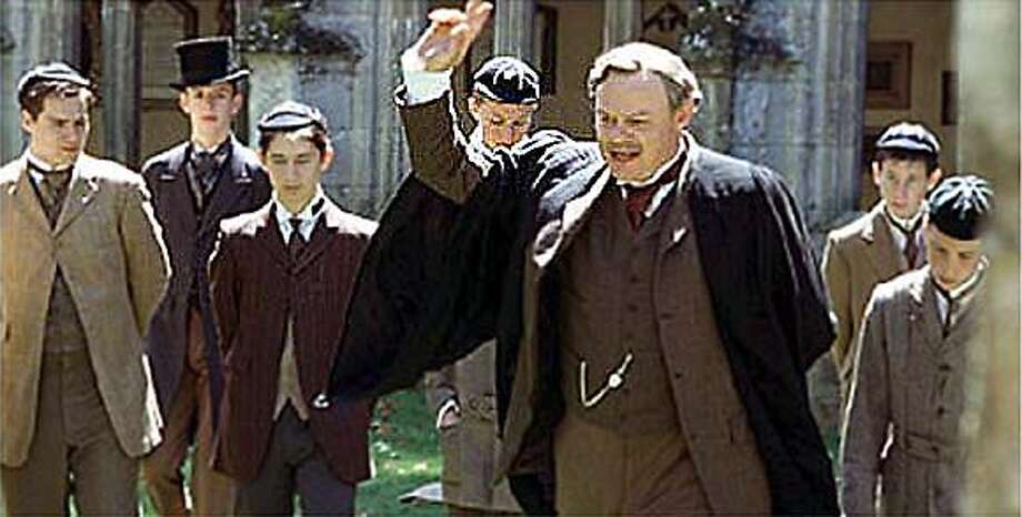 """MasterPiece theatre version of Goodbye Mr Chips. staring """"Martin [Clunes] lectures the brookfield students. Photo: HO"""