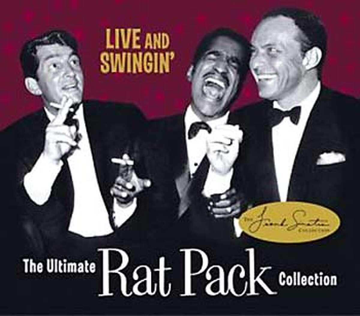 For POPCDS12, datebook ; CD cover art for The Ultimate Rat Pack Collection ; Live and Swingin' ; on 9/16/03 in . / HO